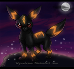 Midnight Umbreon by Kyuubreon