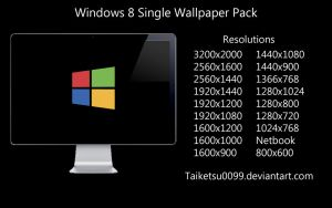Windows 8 Single Wallpaper Pack by Taiketsu0099 by Taiketsu0099