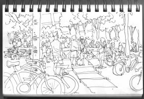 BIKE GATHERING by ponch414