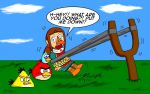 Medli and the Angry Birds by pheeph