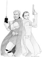 Obi-Wan and Padme by ArtbroSean