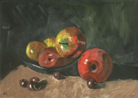 Apples And Cherries by h-i-l-e-x
