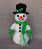 Holiday Snowman by W0IfDreamer
