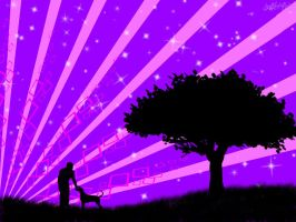 Purple Paradise Wallpaper by HypnoticMystery