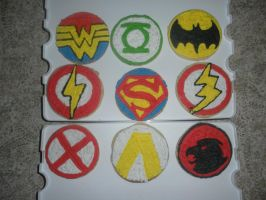 Justice League Cookies by fairielove