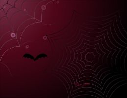background with spider web by Tumana-stock