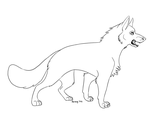 German shepherd lineart by Bonday