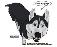 Mishka the singing Husky by NathalieNova