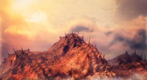 Martian Mountains by 5bodyblade