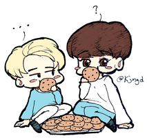ChanHun + Cookies by AsterialArt