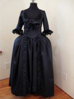 black baroque dress by hollymessinger