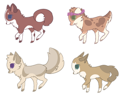 20 Points Pastel Dog Adoptables 1 LEFT by plantsies