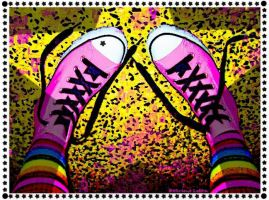 All Star-Hotpink Chuck's by Delirious-Lolita