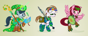 Celtic Ponies by PixelKitties
