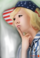 SNSD Sunny Speed Painting Portrait by Foxfire025