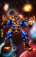 THANOS with INFINITY GAUNTLET by WOLVERINE76