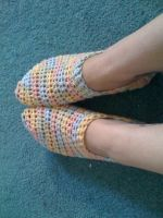 candy rainbow house slippers by lovechairmanmeow