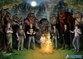 Nights with werewolfs by CelestinArt