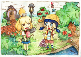 Isabelle and Mayor Fische by scilk
