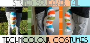 Striped Squeaker Tail (SOLD) by TECHNlCOLOUR