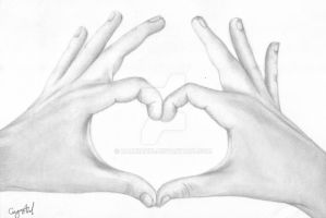 Heart Shaped Hands Drawing by Narniakid