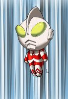 Ragelions chibi ultraman color by shalomone