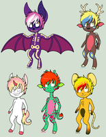 Anthro Adopts - CLOSED by RaveMunch