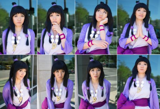 Maya Fey's Expressions - Ace Attorney Cosplay by firecloak