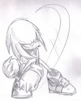 Knuckles Sketch by Cyber-Kun