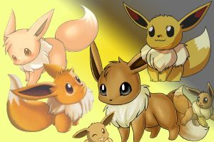 Eevees by Bucketman11