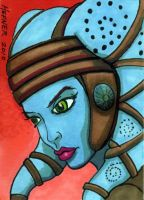 Aayla Secura Sketch Card by HalHefnerART