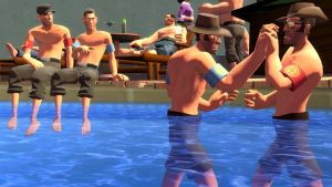 Mann Co. Company Pool Party by Blu-Scout18