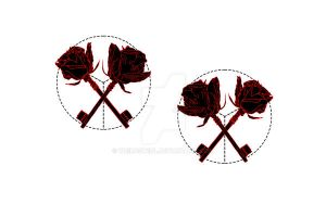 the key-roses bows by adkind