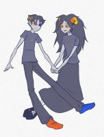 sollux + aradia by HestersTowel