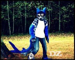 wolf shark fursuit partial by DexterousZombie