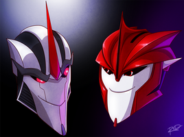 Screamer and Doc Knock by AnArtistCalledRed