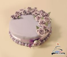 Lilac Rose Cake by The-Nonexistent