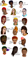 My Neopets As Humans by SassyRaptor
