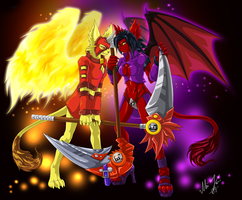 Fire and Darkness by Pikuna