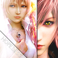 Final Fantasy Icon Serah and Lightning by DieVentusLady
