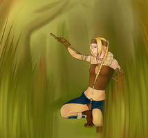 A woman in the forest by Agowilt