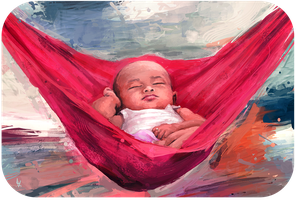 Baby in a Hammock by JohnathanSung