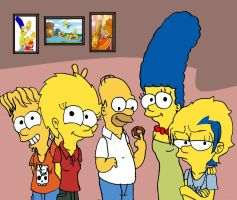 Simpsons familie photo by toongrowner