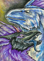 50. ACEO - Zyreus and Fayza by Tir-Goldeness
