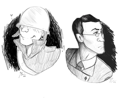 Solly and Medic sketches by TheHayzlenut