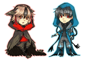 Chibis. Birdies by c-r-y-s