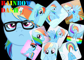 Rainbow Dash Collage by JustaninnocentPony