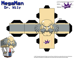 Cubeecraft of Dr. Wily from MegaMan PT1 by SKGaleana