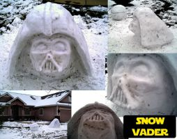 Snow Darth Vader by JediMichael
