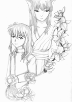 Kurama Flowers by sweetsnow73